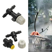 Wholesale Greenhouse Flower Plant Garden Misting Atomizing Sprinkler Nozzles Tee Grey Color