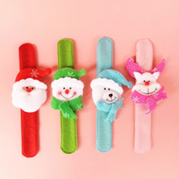 adult christmas ornaments - Christmas Decorations Colorful Slap Bracelet Christmas Ornaments Gifts Toys Cartoon Pat Circle Wristband Children Kids Adult Gifts Styles