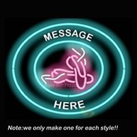ballet store - Custom Message Ballet Slippers Circular Neon Sign Beer Recreation Room Garage Windows Sign Neon Signs Store Display Gifts x24