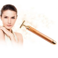 Wholesale 24k Gold Beauty Bar Rod Thin Face Rod Vibration Massage Stick Gold Beauty Bar Thin Face Artifact
