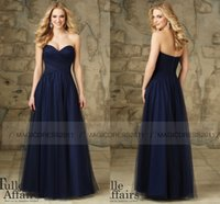 maid of honor dress - Elegant Navy Blue Maid of Honor Dress Sweetheart Bridesmaid Dresses Long Backless Prom Formal Gowns Party Dresses Custom made
