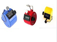 Wholesale ABS Hand held Tally Counter Digital Counter Buddha Numbers Clicker Golf Multi Color Fitness Equipments