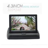 Wholesale Unique quot Foldable LCD Screen Car Digital Monitor Dashboard Backup Color TFT LCD Car Monitor LAB