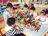 Wholesale Hot sales Playmobil toys juguetes Set Pieces Knights figures random castle child plastic model kit Toys