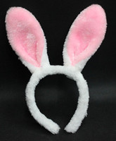 bunny jewelry - Halloween Cosplay Accessories Kawaii Bunny Ears Headbands Lovely Long Rabbit Ear Headbands Fancy Prom Party Jewelry for adults children M26