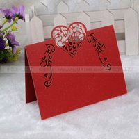 Wholesale 50PCS New Arrival Laser Cut Wedding Decorative Place Name Card Table Paper Vine Seat Cards for Party In Stock SC