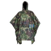 Wholesale Tactical Airsoft Sniper Hunting Realtree Adult No Transparent PVC Rain Poncho Cycling Camping Hiking Plastic Raincoat Tent Mat