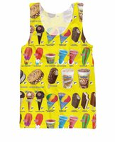 Wholesale Trucked Tank Top ice cream truck tank Vest Casual tops hip hop fashion clothing tees summer style jersey shirt for women men