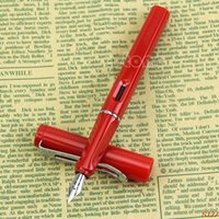 Wholesale Chic New Plastic Cap Barrel Red WHITE BLACK Jinhao A Safari Calligraphy Fountain PenS127