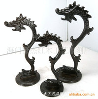 african wood frames - Black sticks of wood hanging jade carvings of African ebony wood frame mahogany hanging jade jade hanging rack shelf three sets
