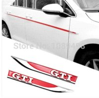 Wholesale VW GTI RED fender emblem sticker logo badge side mark for Volkswagen Golf mk7 golf GTI pair RED M25680
