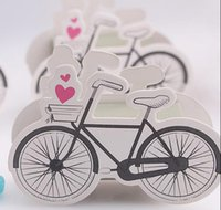Wholesale fashion new design lovely cute heart bike bicycle charm Shower Favor Candy Boxes Gift hold bag for party wedding birthdays celebration