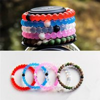 Wholesale Pink lokai Silicone Bracelets Mud and Water Black and White beads lokai Silicone Bracelet Gift Jewelry pink Lokai Jewelry