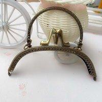 purse clasp - Bag Accessories cm Arc shaped High Heeled Shoes Metal Purse Bag Frame Kiss Clasp Lock For DIY Purse Handbags