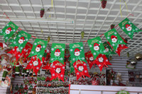 Wholesale Merry Christmas Banner Flags Santa Clause Snowman Flags for Home Hotel Restaurant KTV Bar Kinder Garden Club Xmas Decor