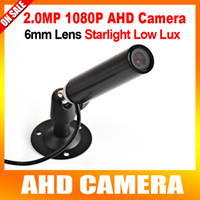 Wholesale 1 quot StarLight Lux Color Image HD MP Mini Bullet AHD Security CCTV Camera With mm Lens For P AHD DVR