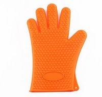 Wholesale Cute Silicone Kitchen Oven Baking Glove Pot Mitt Tool Holder Heat Resistant Silicone Glove