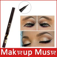 NO.8829 1Pcs Mineral 1Pcs UBUB Permanent Dazzle Black Ultra-fine Liquid Eyeliner Black Eyeliner Pen Pencil Waterproof and Smudge-proof #8829