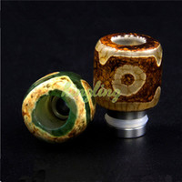 bear c - Electronic Cigarette Agate Store Wide Bore Drip Tips Drip Tips for Vaporizer E Cigs Atomizers Thread EGO Mouthpiece of Clearomizer C