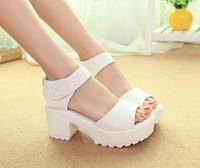 Wholesale Women Open Toe Peep Toe Platform High Heel Gladiator Sandals Boots Chunky Shoes