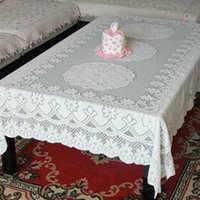 Wholesale New Large Luxury Square Crochet Lace Tablecloth Rectangle Table Cover Embroidery cm