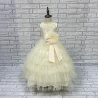 peacock flowers girl dresses - Hot Sale Colors peacock Pageant Dresses For Girls Fluffy Flower New kids Evening Gowns
