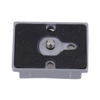 Wholesale Andoer Grey Metal Aluminium alloy Quick Release Plate quot Thread for Manfrotto QR Plate and Bogen D3087
