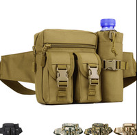 Wholesale In Stock Multi functional Outdoor Camping Sport Leisure Camouflage Waist Pack Tactical bag casual travel large army waist pack