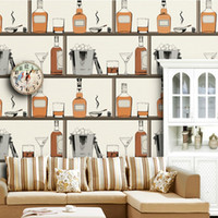 bar cabinet design - Unique wine cabinet Kitchen Design embossed Wallpaper for restaurant bar hotel home decoration D wall paper