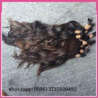 virgin hair bulk - 400gram inch long Brazilian virgin Raw Remy Human Hair Bulk brading material hair without weft