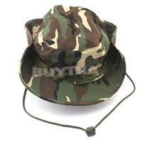 Wholesale 2014 New Camouflage Camping Hiking Fishing Bucket Cap Fashion Camo Cover Military Wide Brim Sun Hat