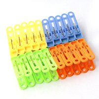 Wholesale F04697 Mix Color Plastic Clothes Clip Cothespin Pegs Racks Clip