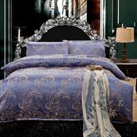 silk sheets - promotion silk jacquard queen king size comforter bedding sets satin bedclothes duvet cover bed sheet bedspread home textile pillow b12