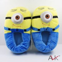 plush slippers - Despicable Me Minions Plush Stuffed Slippers Cuddly Fluffy Collectible Jorge Dave Stewart inch