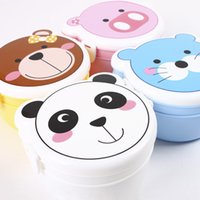 Wholesale Hot Sale Two Layers Lovely Cartoon Plastic Lunch Box Microwaveable Food Container Student Bento Box Kitcher Storage JH0039 Kevinstyle