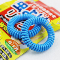 Wholesale Super nice Mosquito Repellent Band Bracelets Anti Mosquito Pure Natural Baby Wristband with retail package mixed colors
