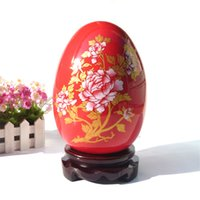 art ceramic - Chinese Red Articles Jingdezhen Ceramic Decorate Arts and Crafts High Quality Ceramic Eggs for Sale CPS002