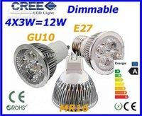 Wholesale Dimmable LED Lamp GU10 MR16 E27 X3W W Light Bulbs High Power LED light
