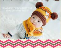 baby hat scarf knitting pattern - 10pcs Cute Cartoon Winter Baby Kids Children Warm Hat With Scarf Dog Pattern Knit Wool Warmers Beanie Caps kids caps for M Y3 Children