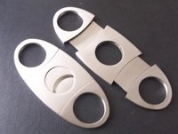 Wholesale 100 Stainless Steel Cigar Cutter High Quality Cigar Scissor Metal Silver Cigar Cutters