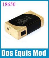 Wholesale Vaporizer Dos Equis Box Mod small dual battery box mech mod fit batteries thread fit RDA Atomizer Mechanical Mod TZ413