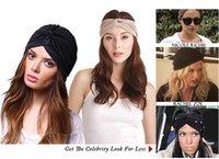 Wholesale Fashion Turban Head Wrap Band Hat Cap Chemo Bandana Elastic cap mix Colour