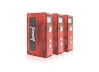 Wholesale 2015 Original Red Wood box mod Unik w w w w Luxyoun wooden mod V V e cig mod fit battery with gift box DHL