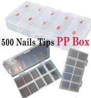 Wholesale Wholesales tips Nails Art Tips box PP Box package box Translucent UNBreak Nail Tips case