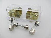 Wholesale GA in GA out Gold Plated New Car Audio Refit AGU Fuse Holder Car Fuse Accessory Tool