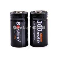 lifepo4 battery - Soshine CR2 mAh V LiFePO4 Rechargeable Batteries Black