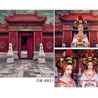 baby lion photos - vinyl photo backdrop babies Door stone lions Ancient Buildings photographer x7ft x220cm