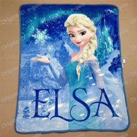 Wholesale Frozen Elsa Raschel Blanket frozen Dairy queen elsa adventures Frozen Girls children s anime raschel blankets NEW HOT IN STOCK Retail