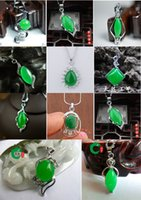 jade necklace - Tibet Silver Green Jade Malay jade pendant Necklace Girl Boy Pendants Silver necklaces Bridal Jewelry for wedding dress