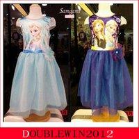 Cheap 5pcs lot Frozen Dress Princess Elsa Anna Dresses with jacket Coat for Girls Frozen Costumes Long Sleeve Jacket Dress